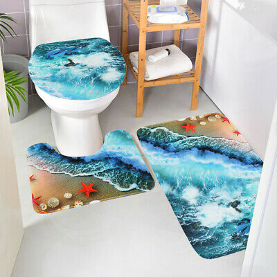 Groot vs Baby Yoda Bathroom Rugs Shower Curtains Set 4PCS Toilet Lid Cover Mats