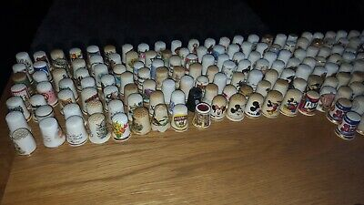 Joblot/Collection Of Approx 292 Various Branded China Thimbles Birchcroft Etc