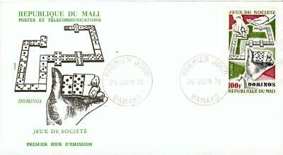 Mali FDC Domino Spiel Dominoes dominos from 1978 eh02