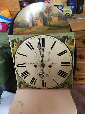 antique painted face for long case clock i will post
