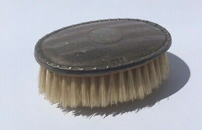 Antique Sterling Silver Hallmarked Oval BABY HAIR BRUSH