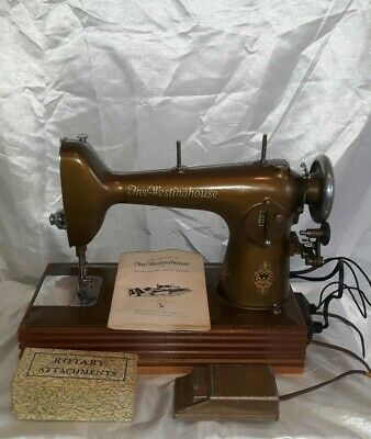 Antique Free Westinghouse Sewing Machine With Accessories. Needs Repairs..