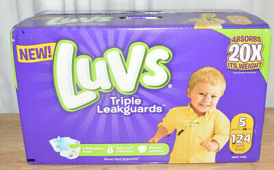 Luvs Triple Leakguards Extra Absorbent Diapers, Size 5, 124 Ct