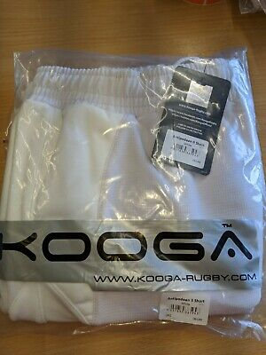 Kooga Adult Antipodean II Rugby Sports Shorts White size L LARGE BNWT RRP £36