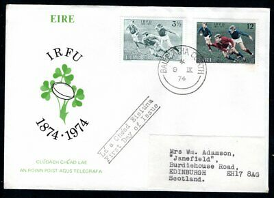 Ireland - 1974 100th Anniversary Irish Rugby Football Union  First Day Cover