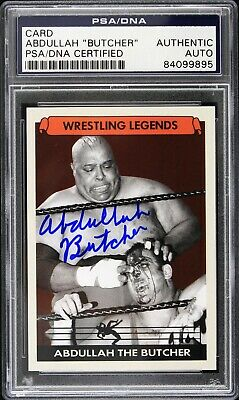 Abdullah the Butcher Wrestling Legend Signed LE Trading Card (PSA/DNA Slabbed)