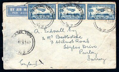 New Zealand - 1938 Airmail Cover to England