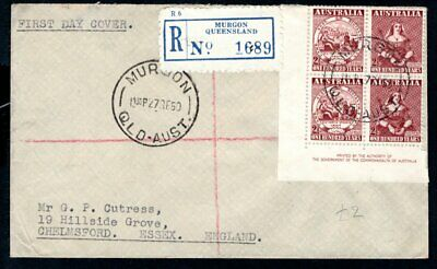 Australia - 1950 Centenary of First Postage Stamp Registered First Day Cover