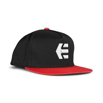Etnies Icon Snapback Cap – Black / Red
