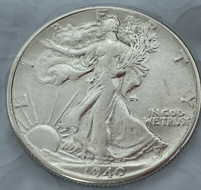 1940 Walking Liberty Half Dollar - AU+/With BU Luster Condition - Very Nice Coin