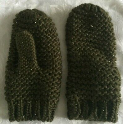 Ladies Dark Green Mittens