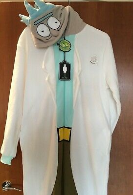 Official RICK AND MORTY Mens Onesie Fancy Dress All In One Primark Sz M//L NEW