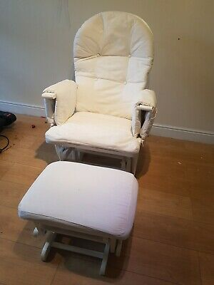 Glider Rocking Chair And Footstool