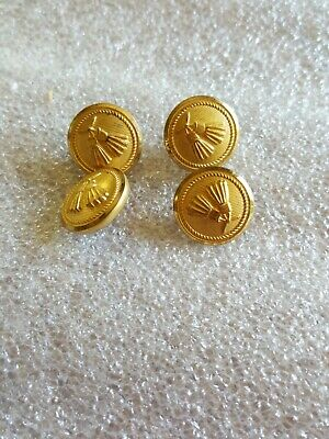 Nice Set Of 4 Small Vintage Brass/ Metal  Buttons
