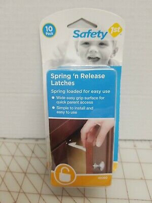1st SAFETY  10 PACK SPRING-LOADED CABINET AND DOOR LATCHES 48392 Nip