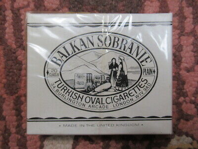 Vintage Balkan Sobranie 20 Turkish Oval Cigarettes In Sealed Box