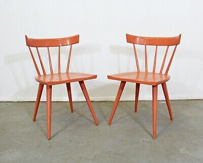 Pair of Mid-Century Modern Paul McCobb Planner Spindle Back Side Dining Chairs