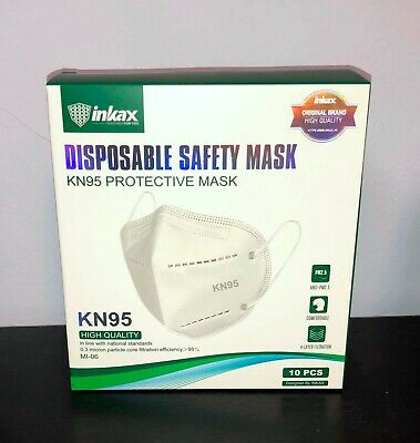 10 X Pieces KN95 Protective Respirator Face Mask Cover 5-LAYERS CE/ECM Certified
