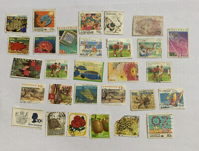 Collection Of Used Australia And New Zealand Stamps