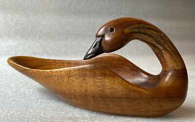 Hawaiian Mini Nene Goose Koa Bowl 🦆 By R. Holden~Signed/Dated 2006 Orig $120.