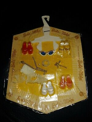 New NOS  Packaged 1962 Barbie accessories NRFB shoes sunglass jewelry gloves