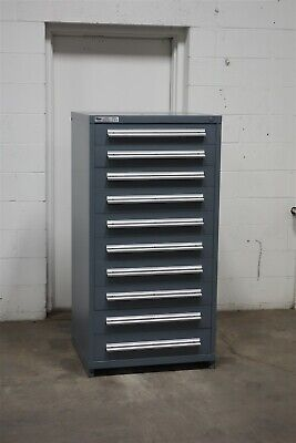 Used Stanley Vidmar 10 drawer cabinet industrial tool storage #2163