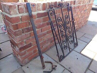 Wrought Iron Heavy vintage Garden Gate With Post & Clasp