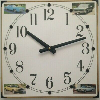 4, 6-Photo Collage Wall Clock with Your Favorite Photos