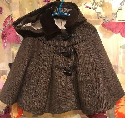 cape coat poncho with hood Age 3-4 From Matalan