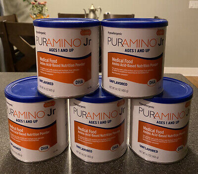 Puramino Junior Jr With DHA Hypoallergenic With Iron Formula - 5 Cans