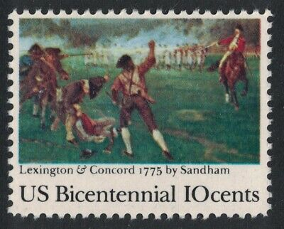 Scott 1563- Lexington & Concord, 200th Anniv MNH 10c 1975- unused US Stamp