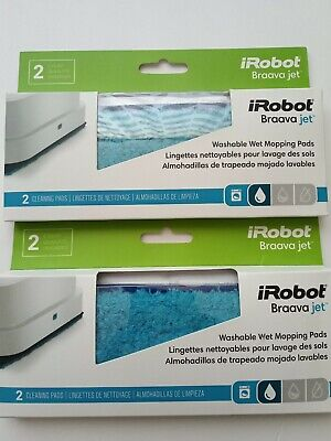 2 iRobot Authentic Replacement Parts Braava jet Series Washable Wet Mopping pads