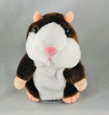 Talking Cute Hamster Electronic Plush Pet Toy- Removable Hat Scarf Gift New