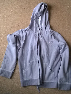NEXT GIRLS 2 TONE PURPLE HOODED ZIP FRONT JACKET AGE 10yrs IN V GOOD CONDITION