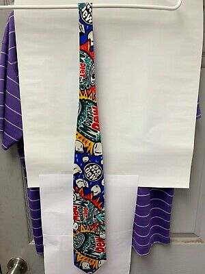 Mountain Dew & Diet Mountain Dew 100% Silk Neck Tie By Merge Left Made In USA