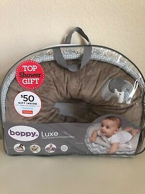 Boppy Luxe Elephant Snuggle Feeding and Infant Support Pillow