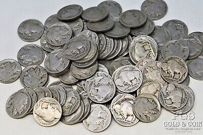 103 Random Date Buffalo Nickels 5c 2-3 Digit Circulated US Coins $5.15 18488