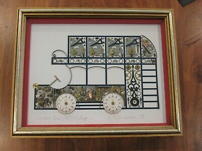 RARE 1978 Original British Clock Parts Artwork - London Bus