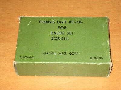 NOS Signal Corps  U.S Army Tuning Unit BC-746-A With Box