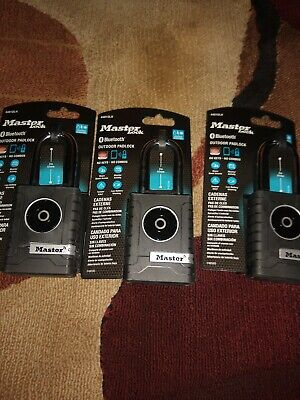 Lot Of 3 NIB Master Lock Bluetooth Padlock Model 4401DLH