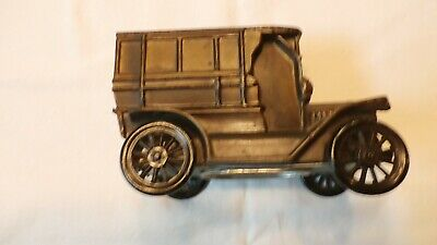 Vintage Metal Car Bank from Stevens Point, Wisconsin