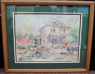 "Nancy Phelps ""Summer Home"" Signed Lithograph LE #718/750 Framed 24x30"" B3302"