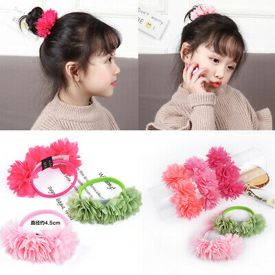 Hair Bands Multi-layer Flower Elastic Accessories Kids Elastic Clips Girls