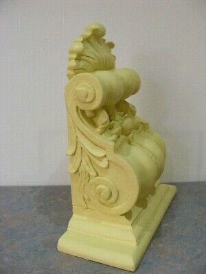 Large 35.5 cm Decorative Scrolly Antique Style Corbel Wall Shelf - VGC