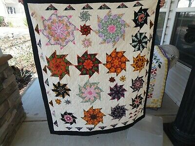 "hand crafted quilt, wack n stack pattern, 51"" x 46 1/2"""