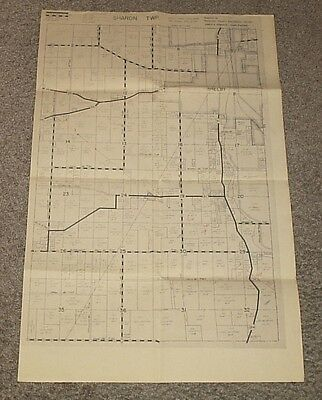 1970 SHARON TOWNSHIP Twp. OHIO Map RICHLAND COUNTY ENGINEERS OFFICE w/NAMES