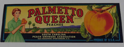 25  Vintage Palmetto Queen  South Carolina Peaches  Crate  labels.