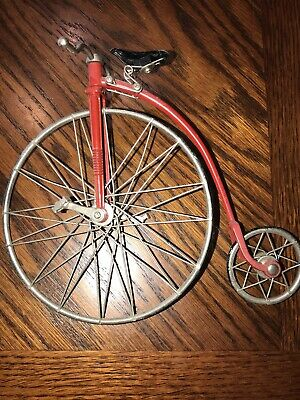 High Wheel Bicycle  Pedals & Wheels Move 1830S Metal Replica Very Detailed Nice!