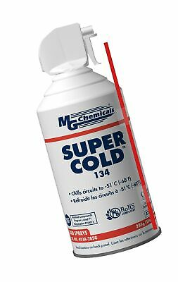 MG Chemicals 403A 134A Super Cold Spray, 285g (10 oz) Aerosol Can 10 ounces
