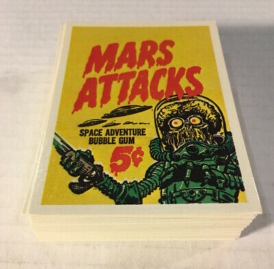 Mars Attacks 1984 Reprint,Renata Galasso Trading Cards, Complete Set Of 56